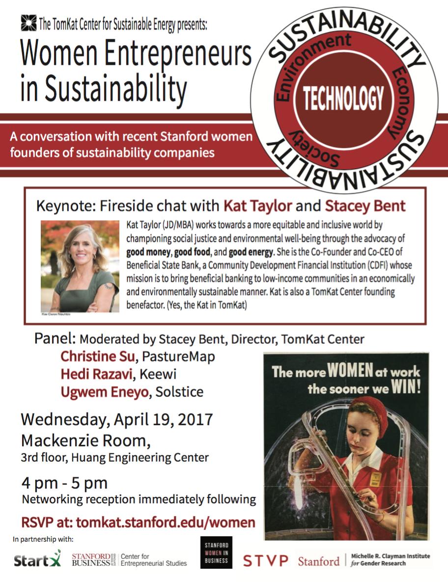 TomKat women entrepreneurs sustainability