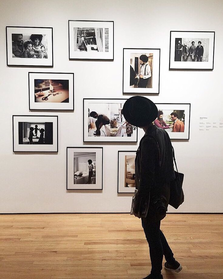 Seeking more melanated happy places in 2016.   #findyourmelanatedhappyplace .  Photo taken by  Jennifer M. Williams  at the Museum of Contemporary Photography in Chicago at the Dandy Lion Exhibition curated by  Shantrelle P. Lewis .
