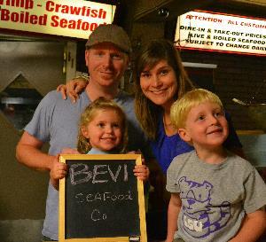 Chef Justin, Katherine, Violet, Benjamin