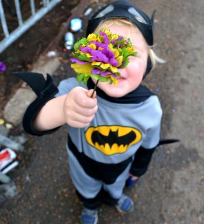 Benjamin's Mardi Gras Flower