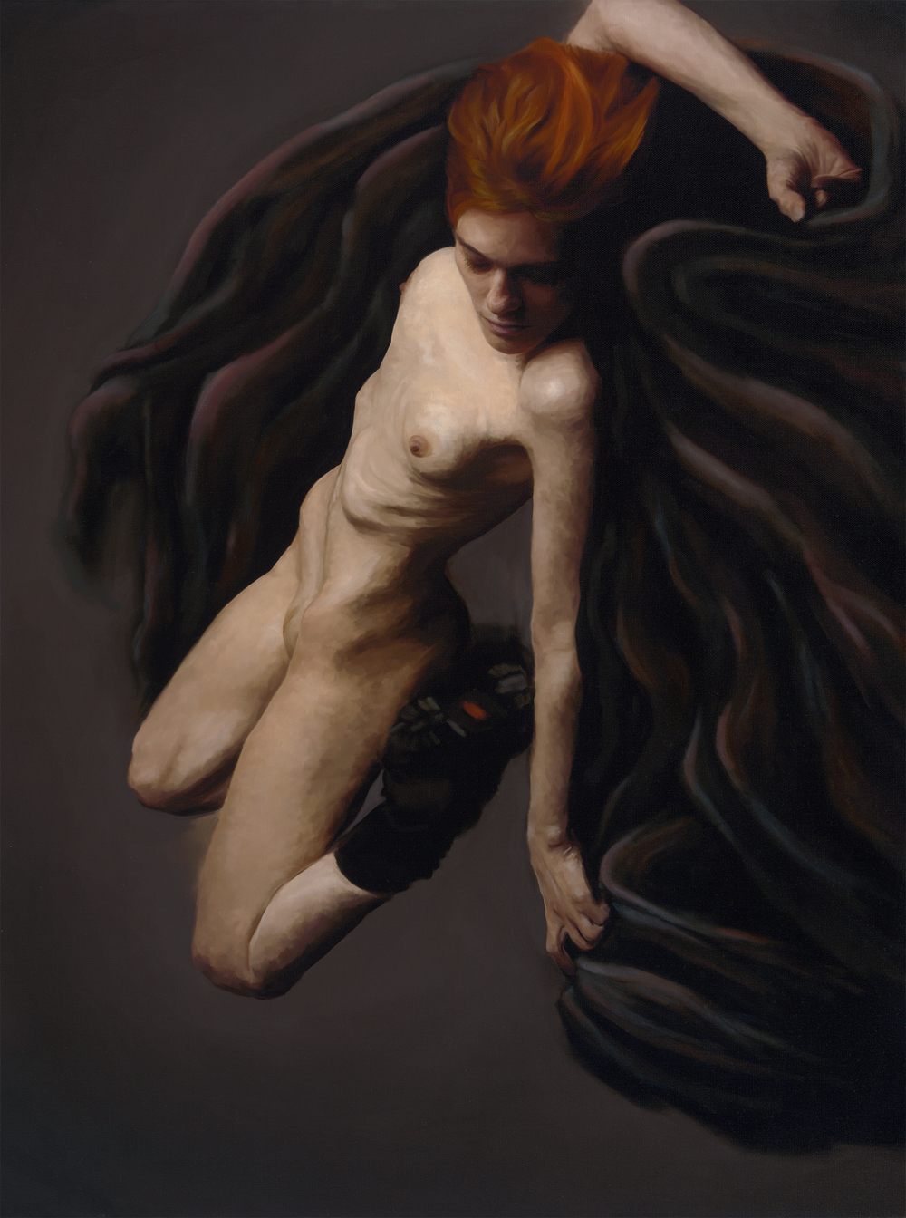 "Shroud,  23"" x 30"", oil and digital on canvas, 2013."