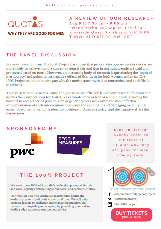 Invitation To 100 Project Panel Discussion People Measures