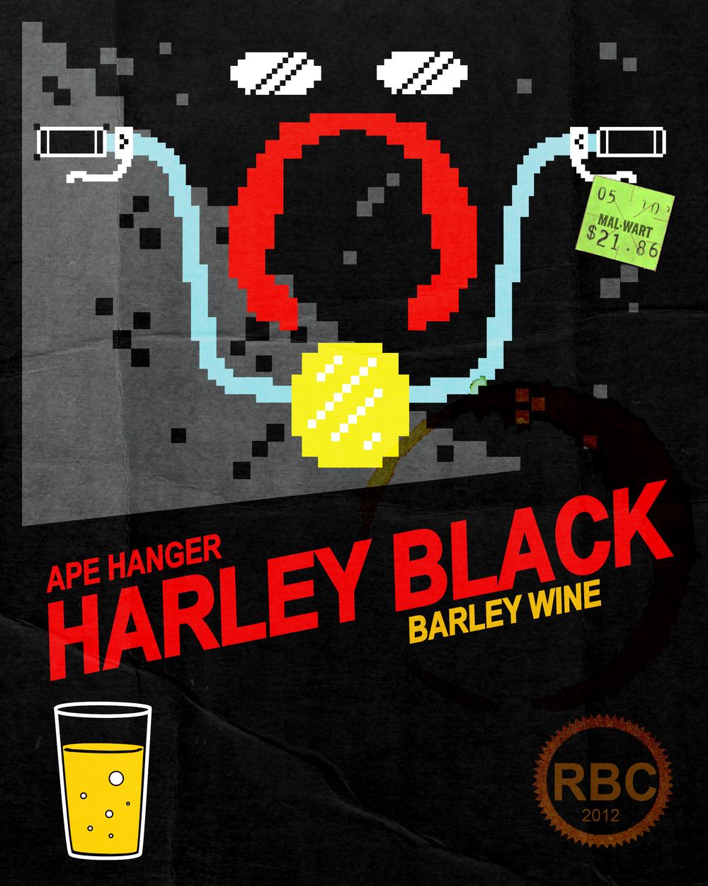 """Ape Hanger - Harley Black Barley Wine"" , - concept, for non-profit"