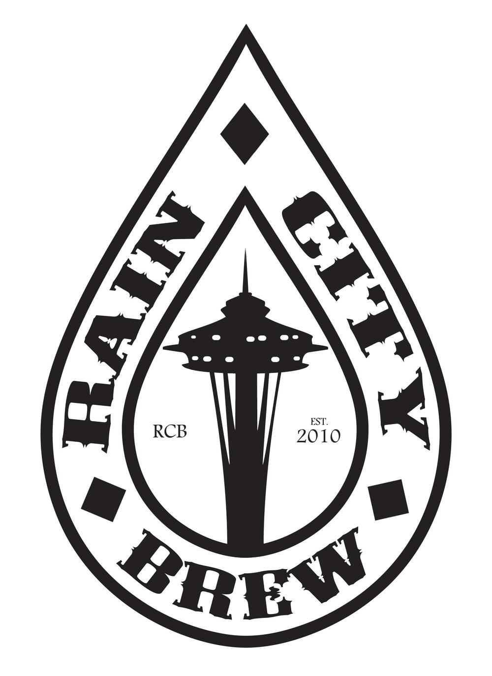 """Rain City Brew""  - logo   http://raincitybrew.com/"