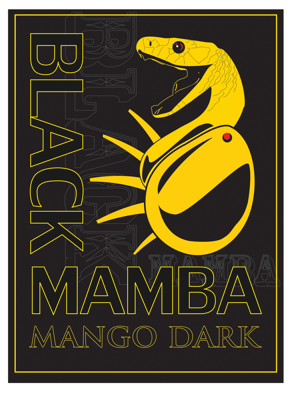 """Black Mamba - Mango Dark"" , concept - for non-profit"