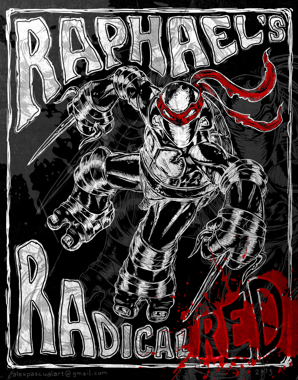 """Raphael's Radical Red"" . concept - for non-profit"