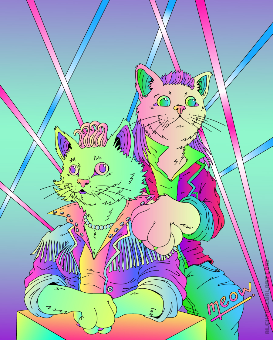 meow_PORTRAIT -animated version via  behance.net