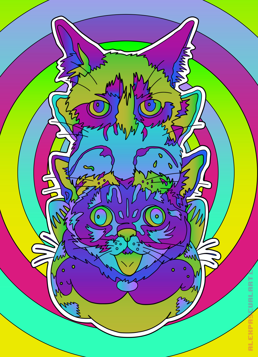 hypno_CATS  - animated version via  behance.net
