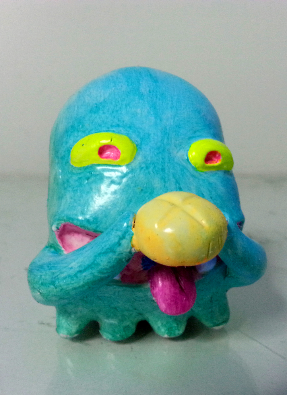 """monster_HUNGRY"" - 3"" ht. acrylic on sculpey"
