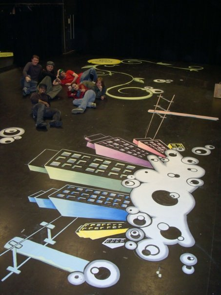 Altruists Play Mural - Center Theater at Seattle Center