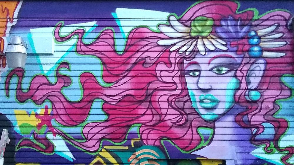 Mermaid Hair - Georgetown Mural (detail)