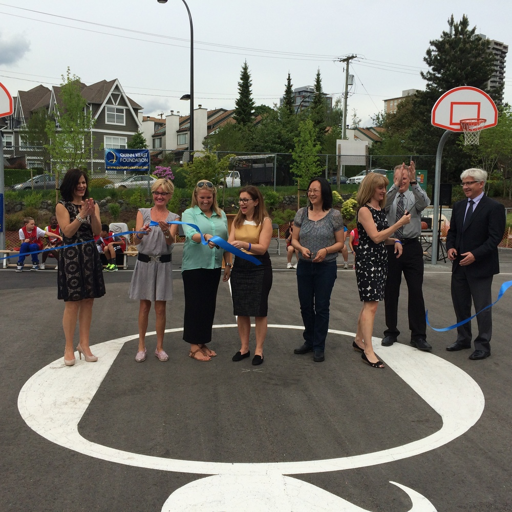 Ribbon Cutting, Queen Mary Elementary May 22, 2014