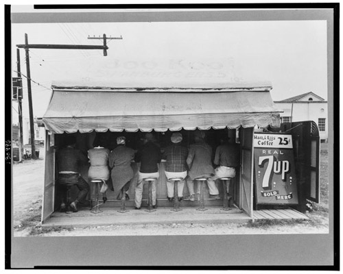 Hamburger stand in 1939. Photograph: Russell Lee.