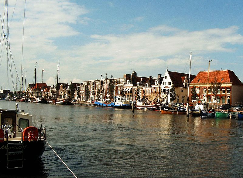 Harlingen, Friesland (a little different than how the canals look in the Valley)