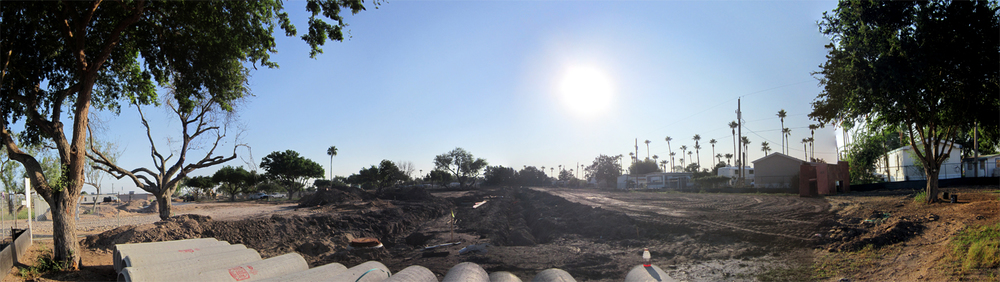 La Hacienda site on 10/1/2012 facing east from Paloma Ln.