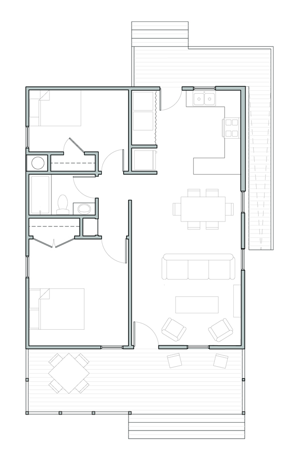 Rapido 2 bedroom floor plan
