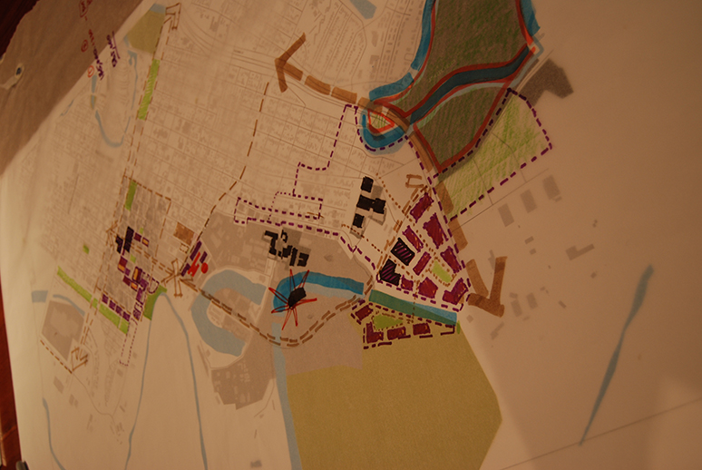 map used during UTB charrette