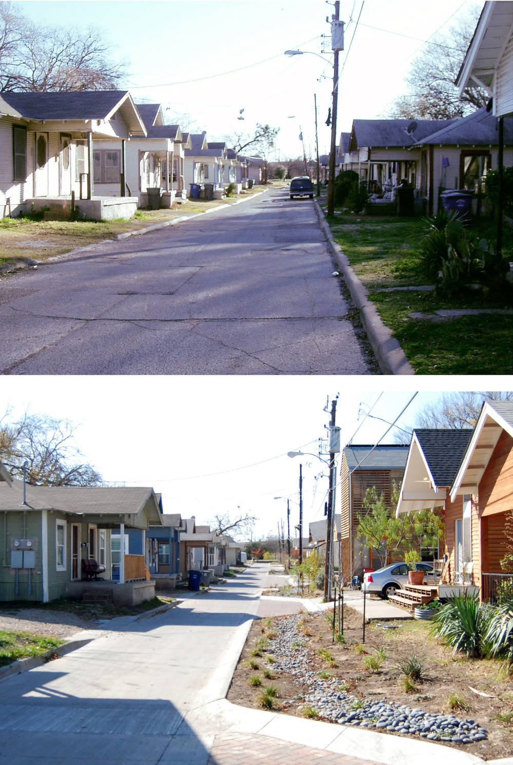 Green Street, before and after