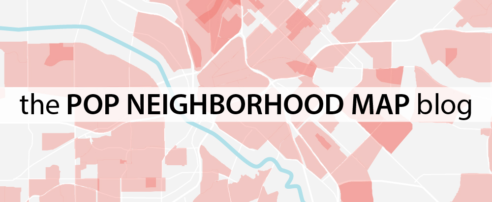 The POP Neighborhood Map Blog is a new digital platform that chronicles the evolution of the POP Neighborhood Map and expounds why neighborhoods matter.  The launch of this blog coincides with the  launch of two new interactive digital tools - Know Your Neighborhood and Draw Your Neighborhood - the most recent effort of our ongoing POP Neighborhood Map project.