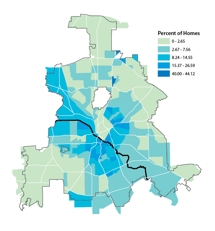 Homes in Poor, Very Poor, or Unsound Condition, Dallas, 2015 (DCAD)