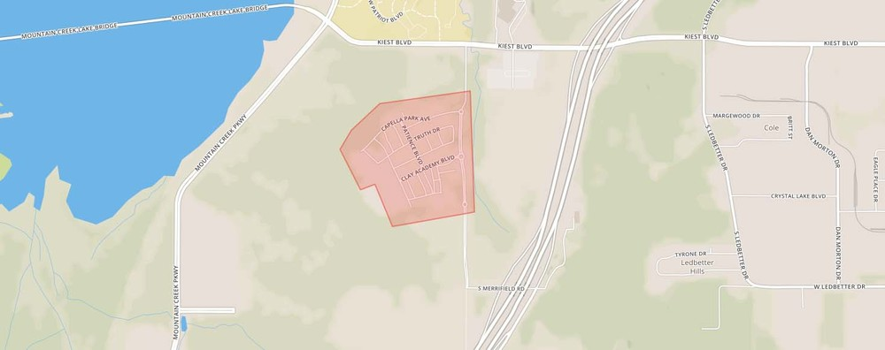 Capella Park neighborhood boundaries