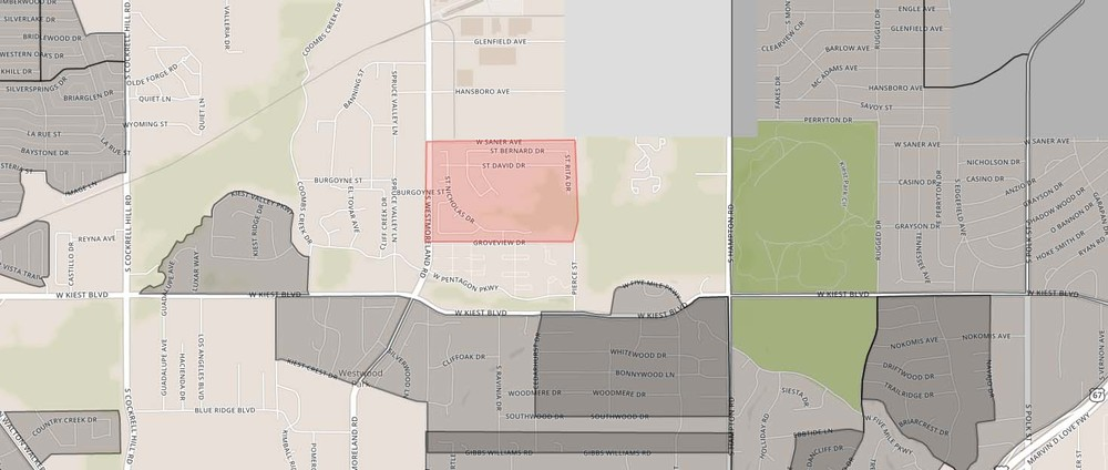 Encino Hills neighborhood boundaries