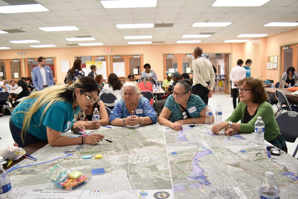 Neighborhood Needs Assessment Meeting hosted by TOP and Houston Housing and Community Development Department