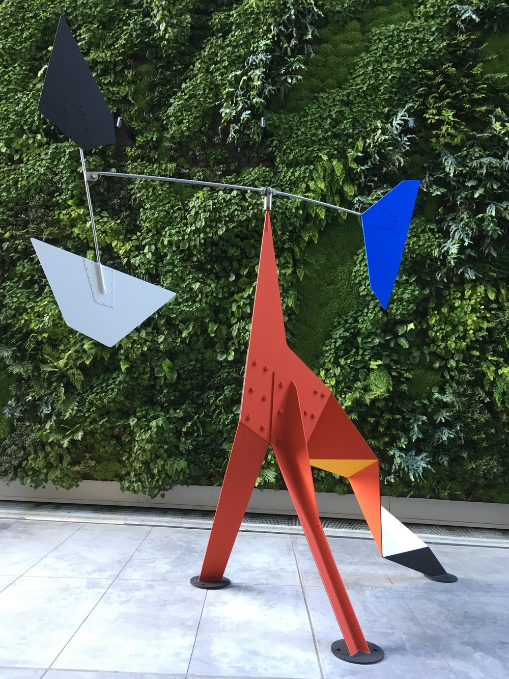 A whimsical Alexander Calder sculpture on the third floor patio, where I went to get some fresh air and continue my sculpture exploration.