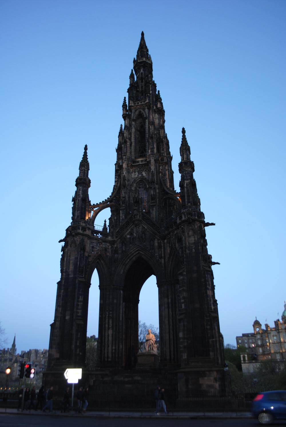 The Scott Memorial at twilight.