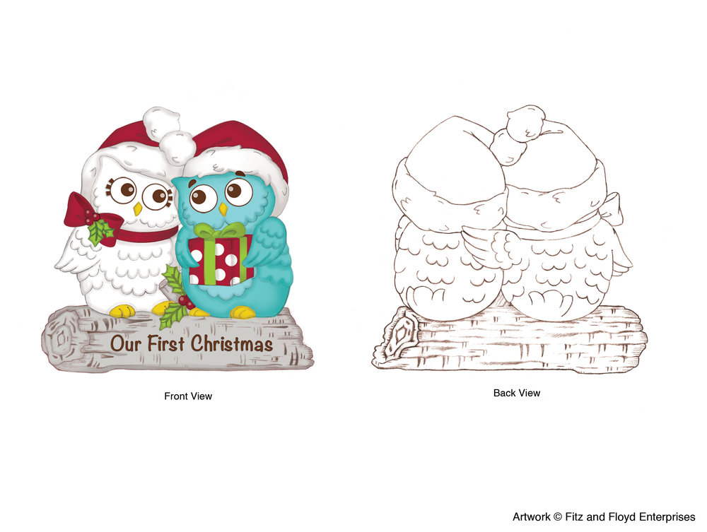 """Holiday Hoot """"Our First Christmas"""" Ornament"""