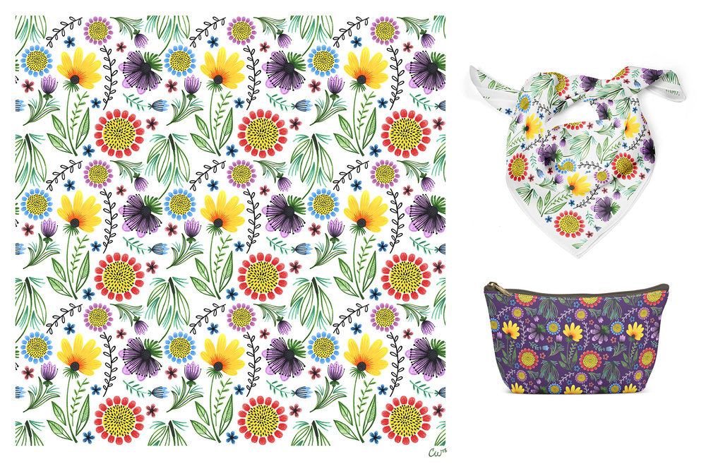 Folksy Flowers Pattern