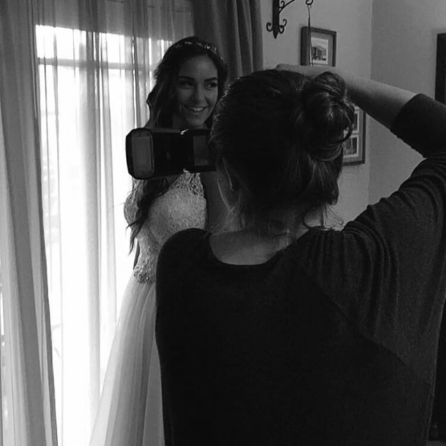 Behind the scenes from today's wedding. #EKennyOnTheTrack #wedding #bride #engagement #love #wildandstripe
