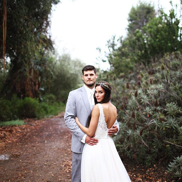 a little rain never stops us. #wildandstripe #obsessed #bride #wedding #socal #theknot #engagement #love