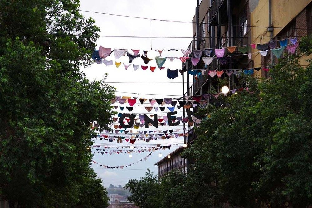 The 3,600 panties that were on display at Maboneng Precinct were donated by rape survivors from all over