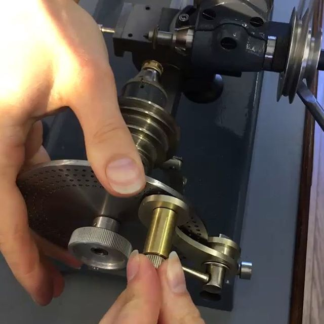 We've been putting out custom-built gear cutting lathe, Helga, to the test with some practice centre wheels for our in-house movement - Project 248 🤓 . . . #watch #watches #watchmaking #peoplemakingwatches #instawatch #watchesofinstagram #watchgeek #horology #craft #craftsmanship #heritage #skills #traditional #makersgonnamake #lathe #make #made #design #create #madeinengland #hands #workshop #bench #engineering #mechanical #precision #details #machining