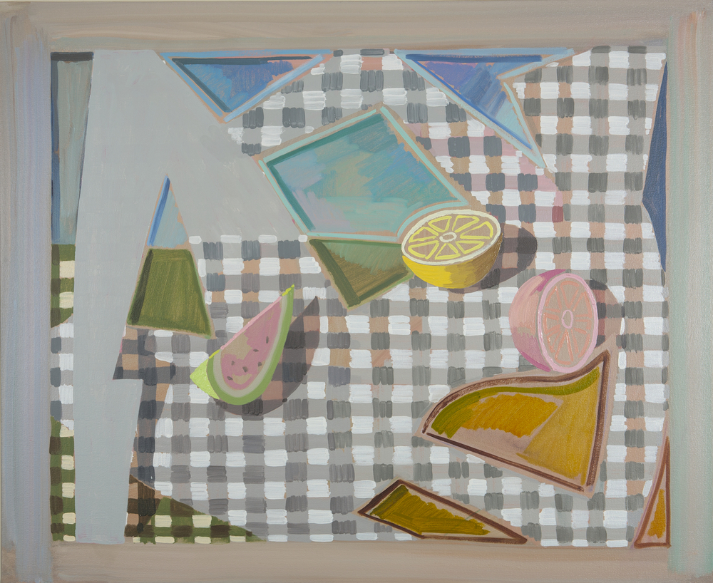 Cultural Sushi, 2012, 91,5 x 111,5 cm. Oil on Canvas.