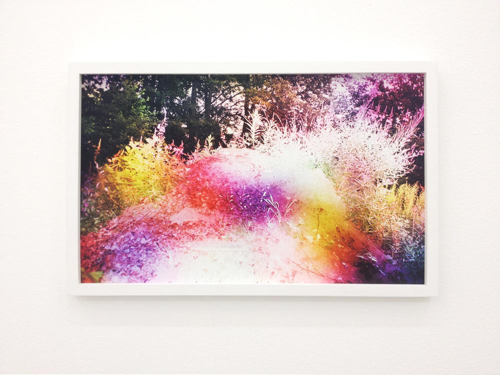 Absalon Kirkeby, Hvid, 2012, 32,5 x 50 cm. Inkjet print in custom frame. Edition of 1/2 + 1 ap.