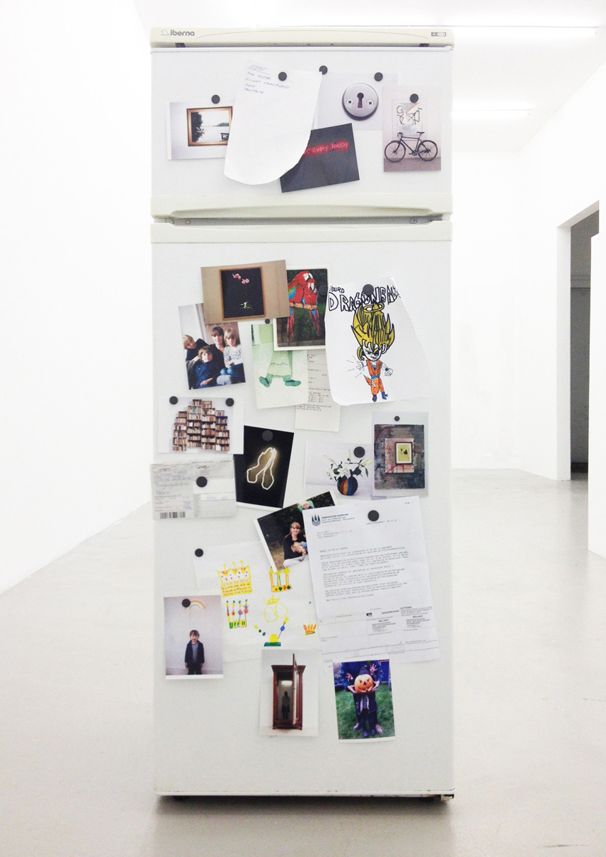 Ulrik Weck, Untitled, 2012, 141,5 x 53,5 x 51,5 cm. Mixed media on fridge filled with beer.