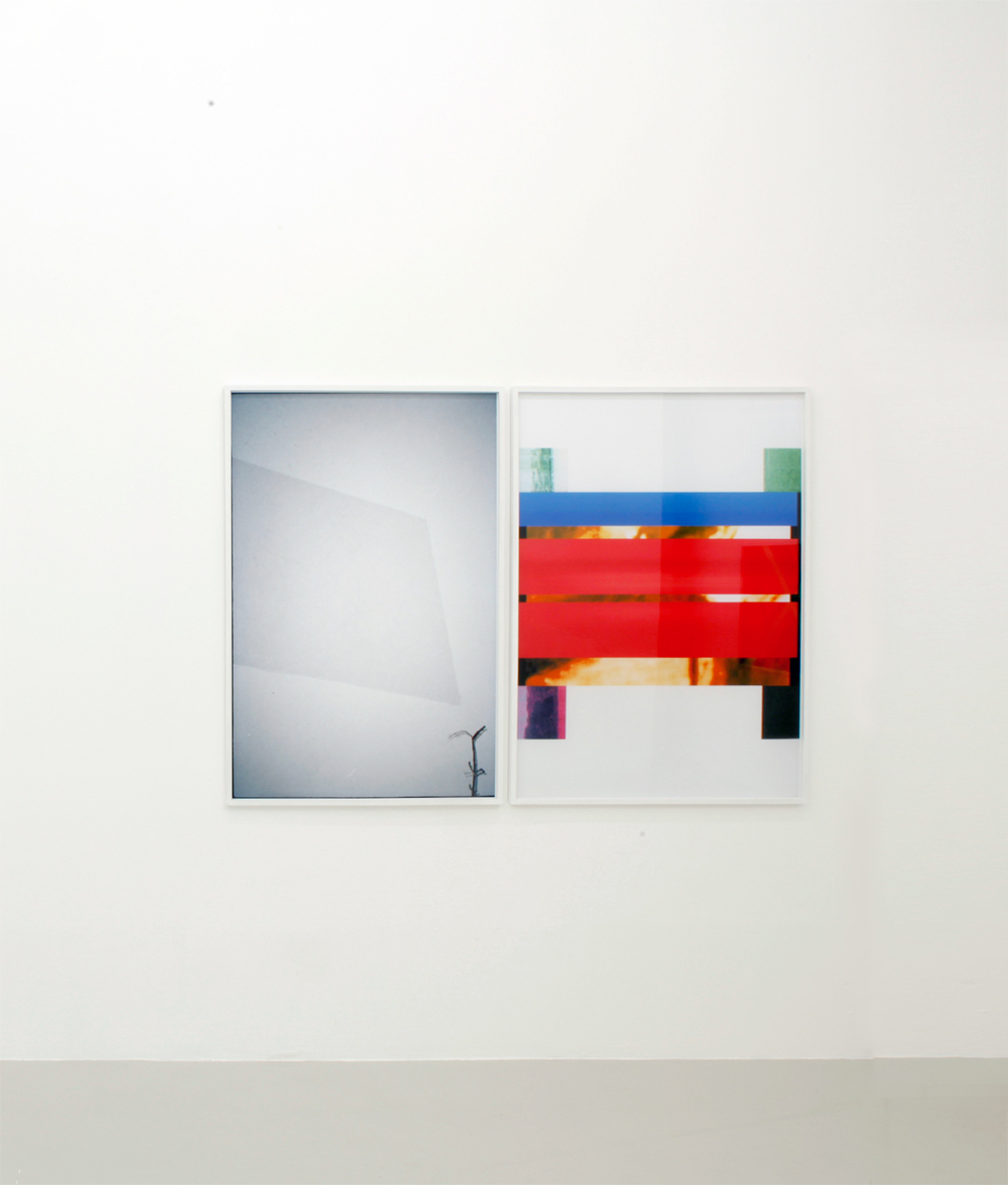 Billede, 2013, 125 x 85 cm and Pigment, 2013, 125 x 85 cm. Both inkjet print in custom frames. Editions of 2 + 1 ap.