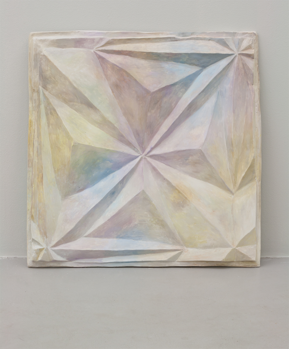 Untitled, 2013, 72 x 69 cm. Oil on plaster.