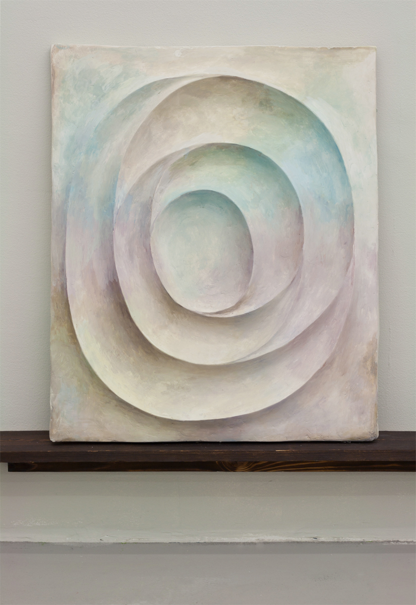 Untitled, 2013, 82 x 67 cm. Oil on plaster.