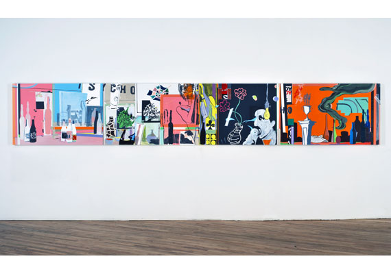 A New Kind of Kick, 2005, 3 panels 91,5 x 183 cm each. Acrylic on linen.