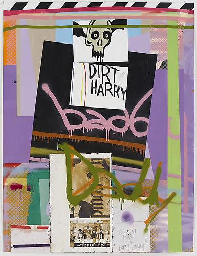 Bad Daddy, 2011, 127 x 96,5 cm. Acrylic, spray paint and collage on paper.