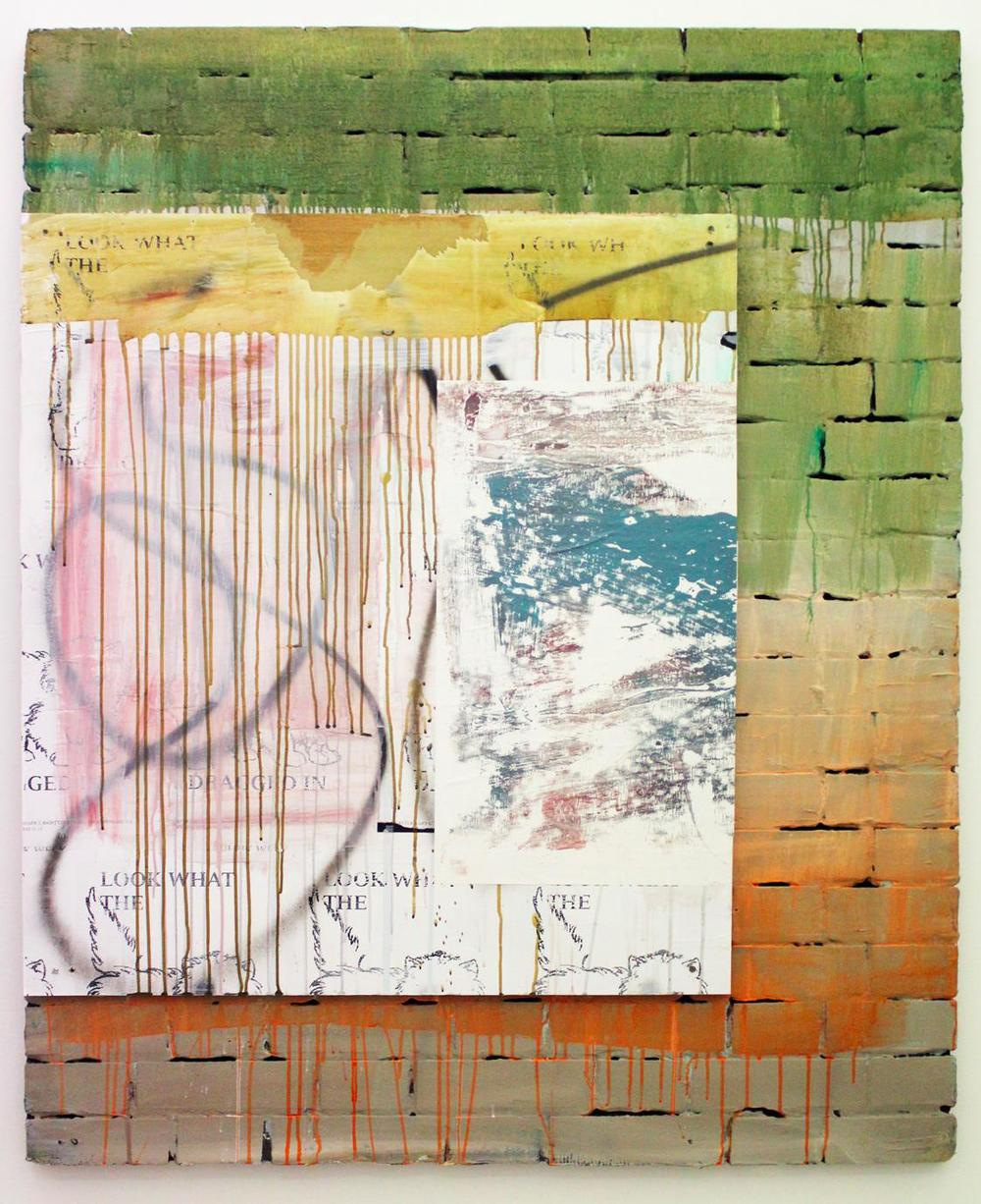 Untitled, 2012, 146 x 122 cm Mixed media on board