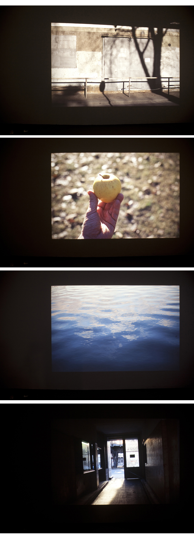 David Horvitz, 'Twelve walks across a horizon in Berlin (slide show 1)'  2013. Slide projections, 81 slides in loop. Text printed on A4 paper, free take-away  .