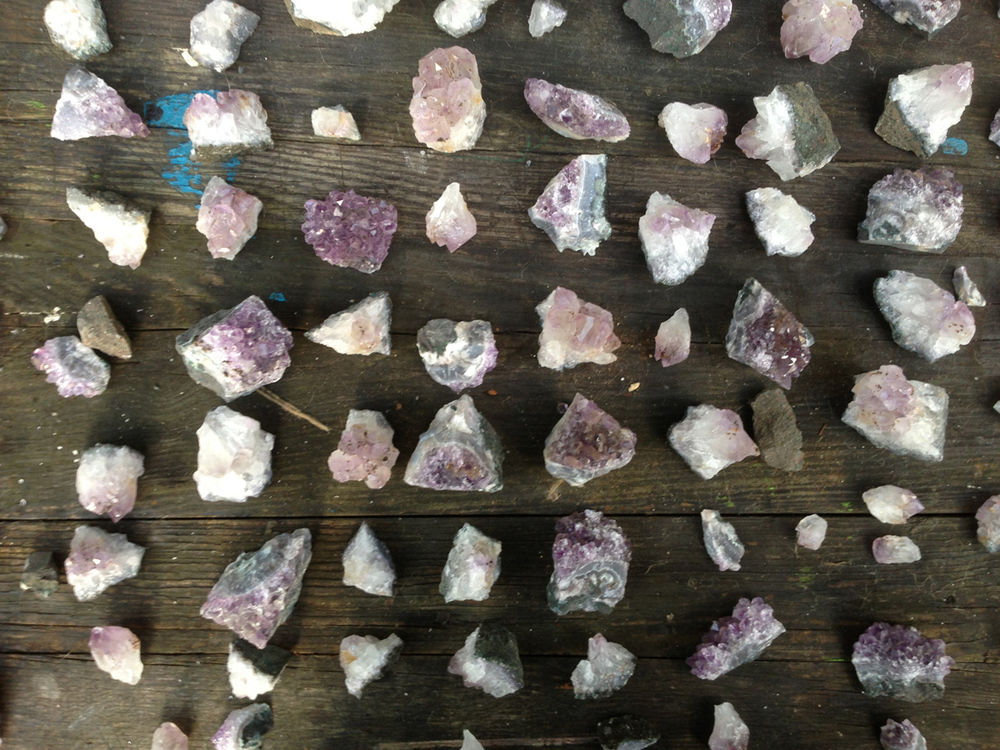 Amethysts used for 'Fine and Dandy Symposion' drinks