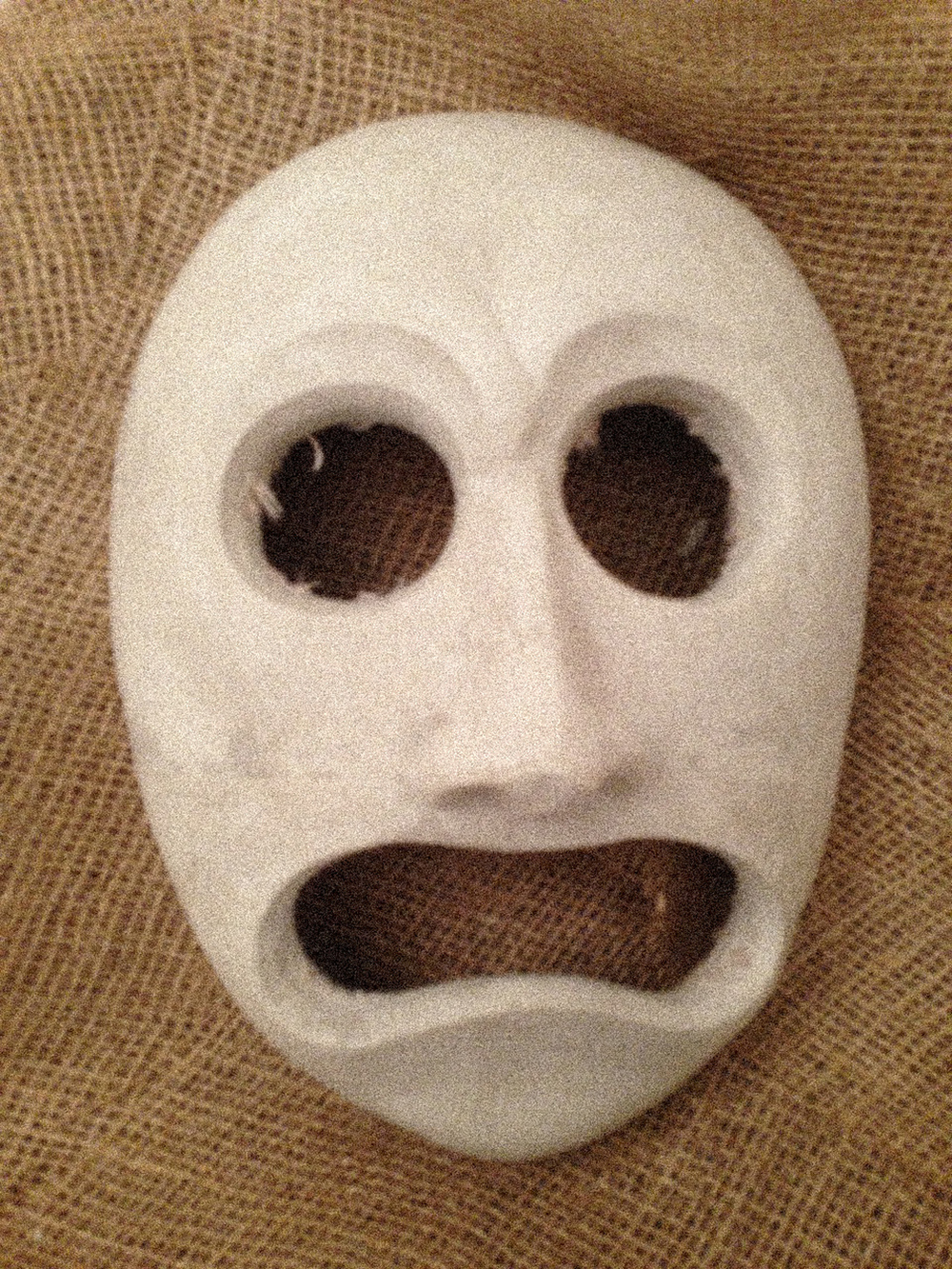 Plaster mask used by doorwoman