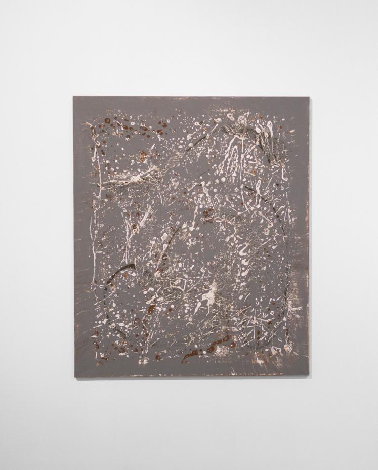 Untitled, 2014, gesso och pigment på linne, 108 x 90 cm