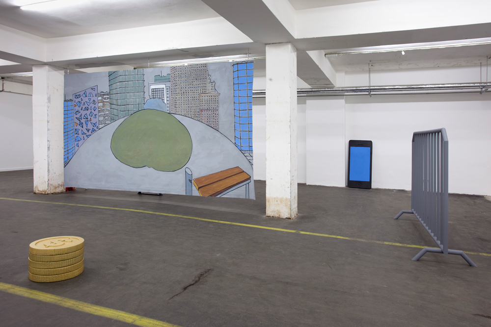 Installation view from Michala Paludan's exhibition Lanx Satura
