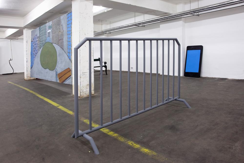 Lanx Satura, Barricade   , 2013   Wood and acrylic   136 x 222 x 62 cm